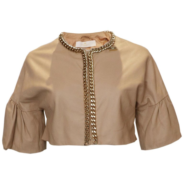 Elisabetta Franchi Leather Bolero For Sale