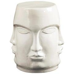 Elisabetta Stool in White Ceramic by CuratedKravet