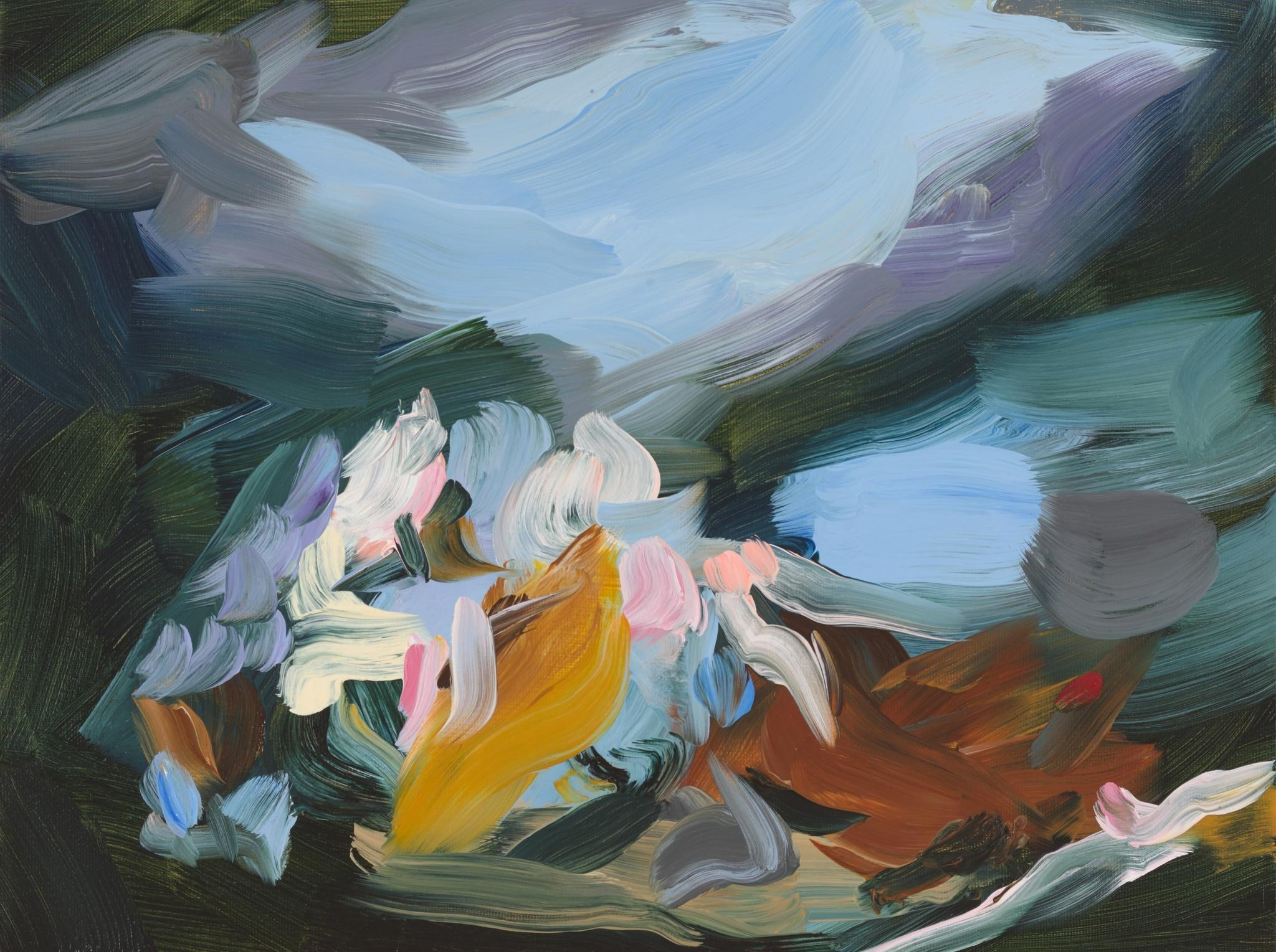 Elise Ansel, Study for After Fools Rush In, Oil on Canvas