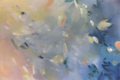"""Elise Morris """"Aligning Darkness"""" -- Large Floral Painting on Canvas"""