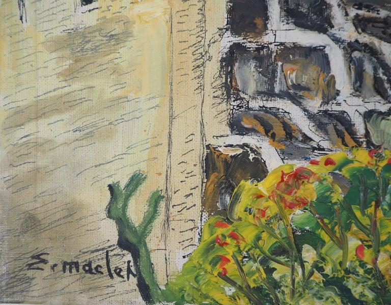Alsace : Haut-Kœnigsbourg Castle - Original Oil on Canvas, Handsigned, c. 1930 - Painting by Elisée Maclet