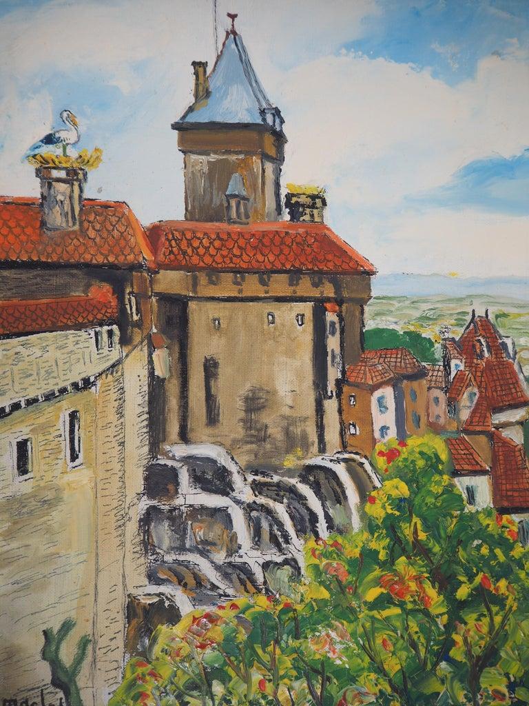 Alsace : Haut-Kœnigsbourg Castle - Original Oil on Canvas, Handsigned, c. 1930 - Modern Painting by Elisée Maclet