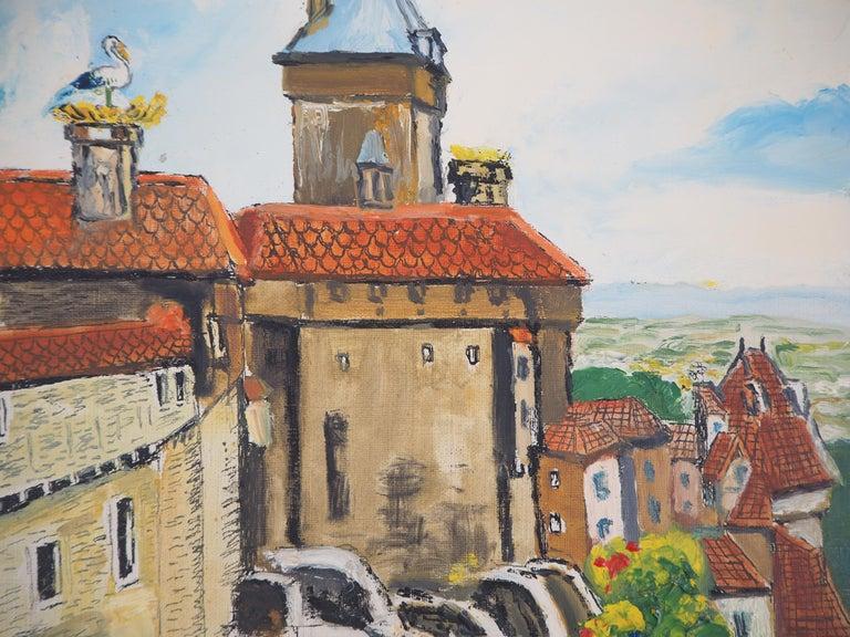 Elisee MACLET Alsace : Haut-Kœnigsbourg Castle, c. 1930  Original oil on canvas Handsigned bottom left Authenticated by the artist on the back On canvas 41 x 33 cm at view (c. 16 x 12 inch)  INFORMATION : Haut-Kœnigsbourg Castle  is a medieval