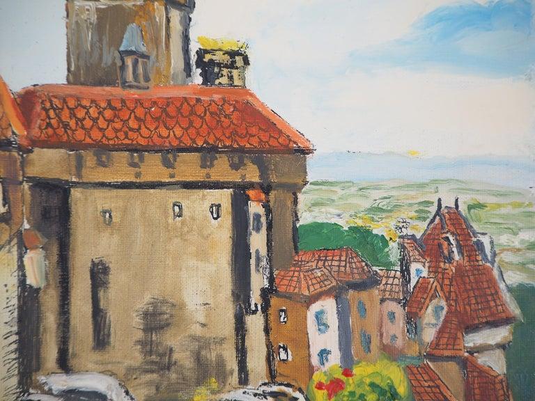 Alsace : Haut-Kœnigsbourg Castle - Original Oil on Canvas, Handsigned, c. 1930 For Sale 1