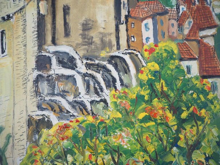 Alsace : Haut-Kœnigsbourg Castle - Original Oil on Canvas, Handsigned, c. 1930 For Sale 2