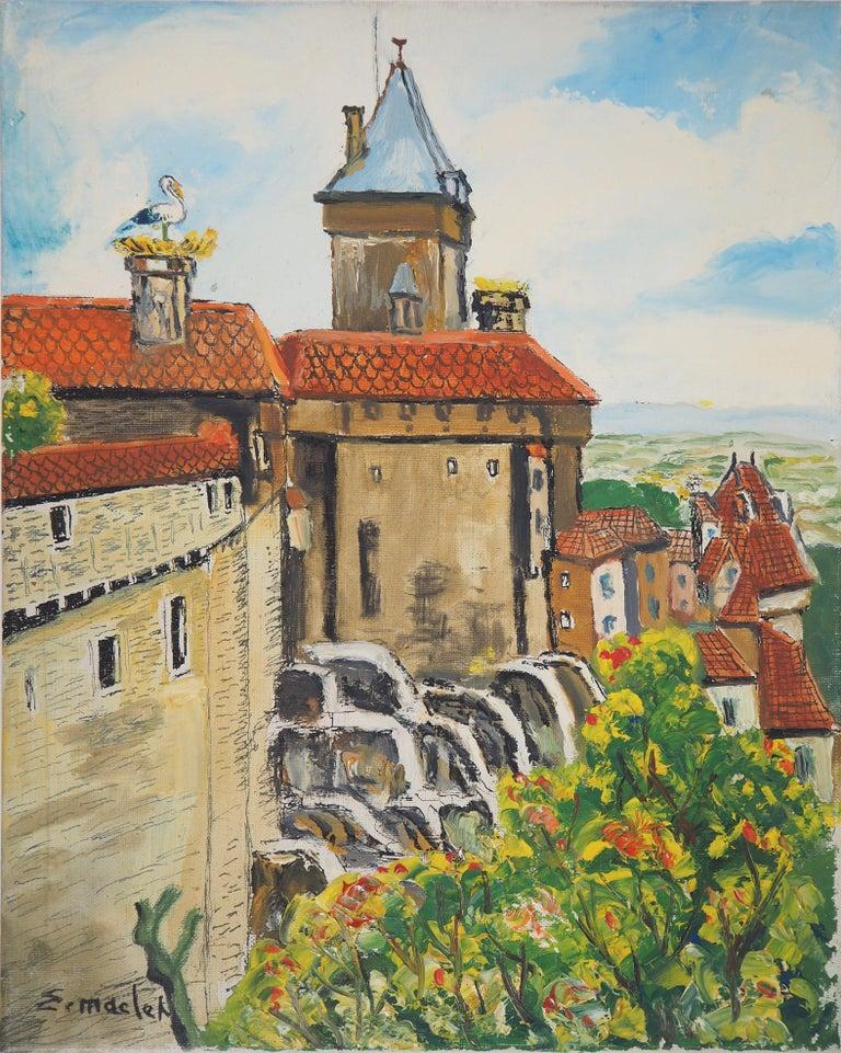 Elisée Maclet Landscape Painting - Alsace : Haut-Kœnigsbourg Castle - Original Oil on Canvas, Handsigned, c. 1930