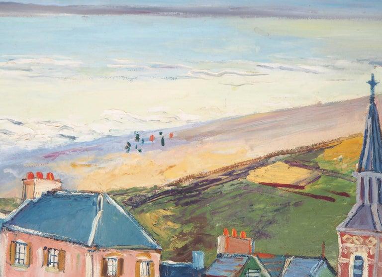 Brittany : Seaside Village - Original oil on borad - Signed For Sale 6