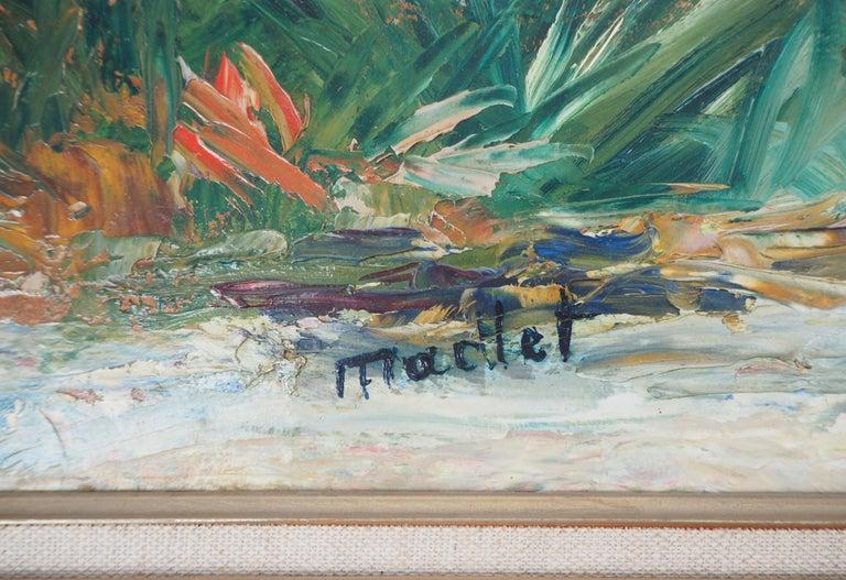 Brittany : Seaside Village - Original oil on borad - Signed - Painting by Elisée Maclet