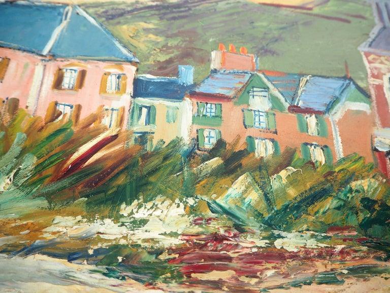 Elisée MACLET (1881-1962) Brittany : Seaside Village  Original oil on borad Signed bottom left 48 x 64 cm (c. 19 x 25