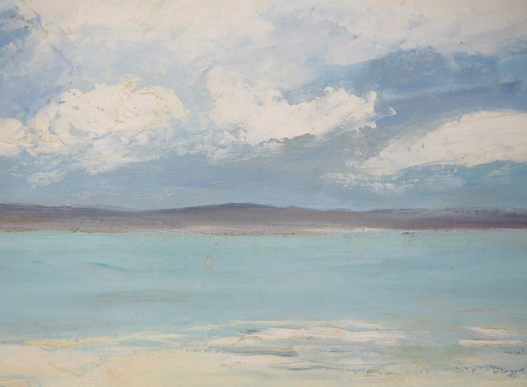 Brittany : Seaside Village - Original oil on borad - Signed For Sale 4