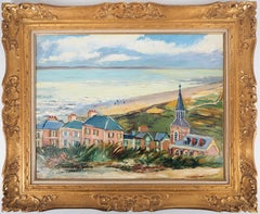 Brittany : Seaside Village - Original oil on borad - Signed