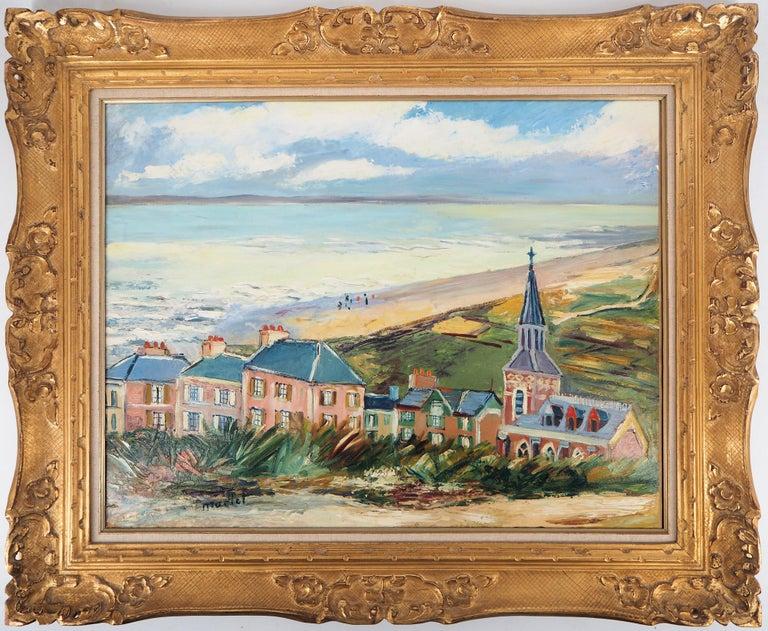 Elisée Maclet Landscape Painting - Brittany : Seaside Village - Original oil on borad - Signed