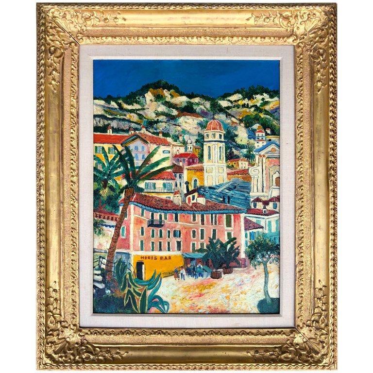 Elisée Maclet Landscape Painting - Vue de Nice