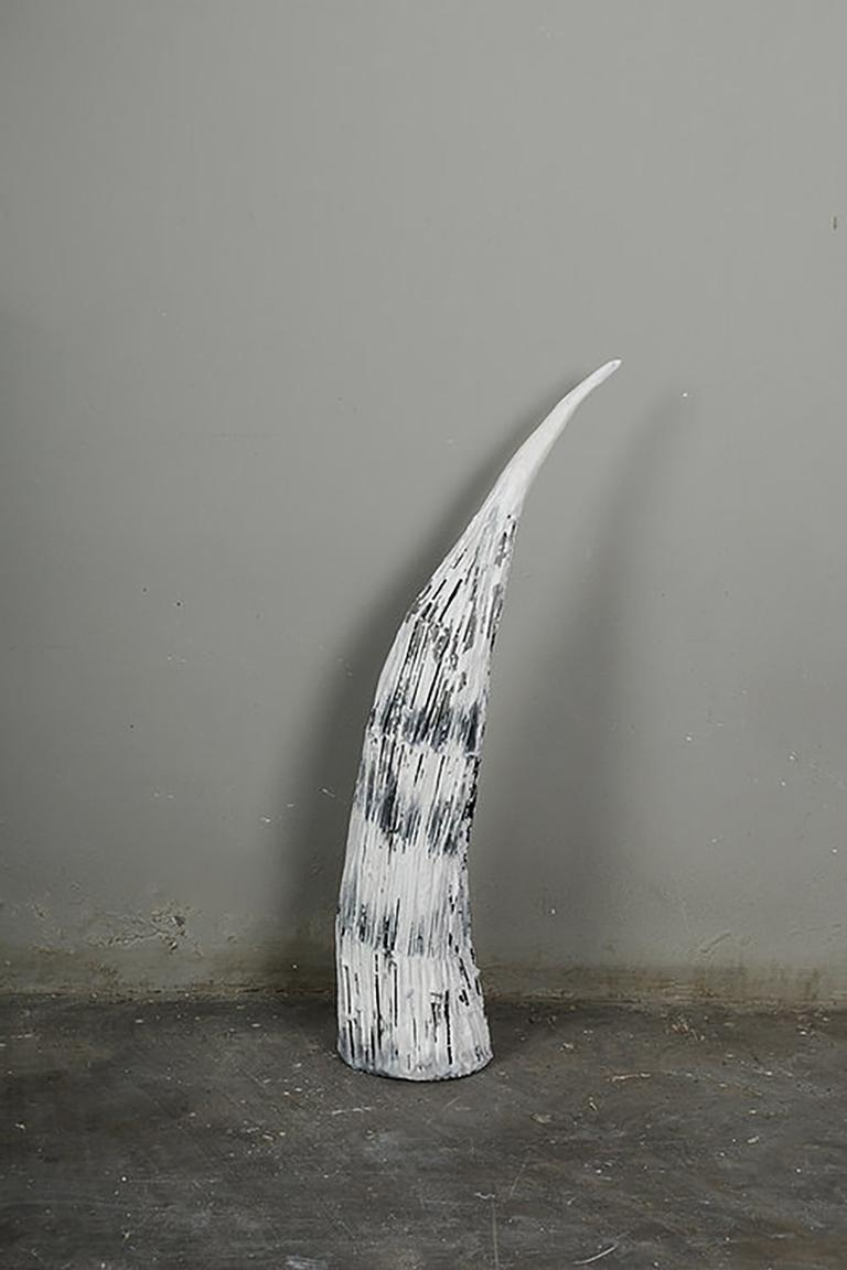 The horn, Elisia Nghidishange, mixed media, plaster, wire, fabric, sculpture