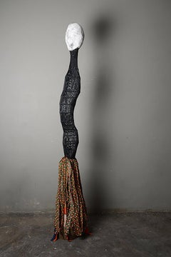 Women Identity, Elisia Nghidishange, plaster, fabric, wire