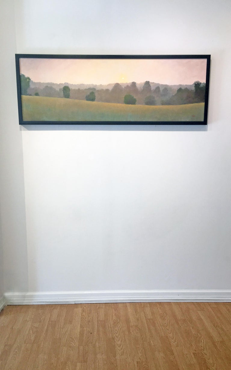 Quiet Memory 2 - Brown Landscape Painting by Elissa Gore