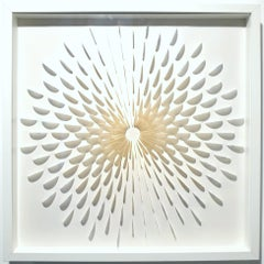 Circle DBr - contemporary modern abstract geometric paper relief