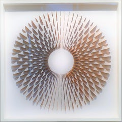 Circle Rozetta Modesta Orange - contemporary abstract geometric paper relief