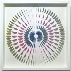 Circle WOW - contemporary modern abstract geometric paper relief