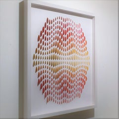 GRP - contemporary modern abstract geometric paper relief painting