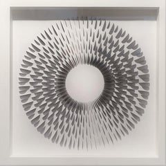 Modesta B&W - contemporary modern abstract geometric paper relief