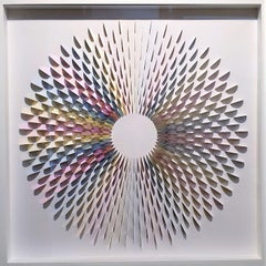 Rozetta Holo 9 - contemporary modern abstract geometric paper relief