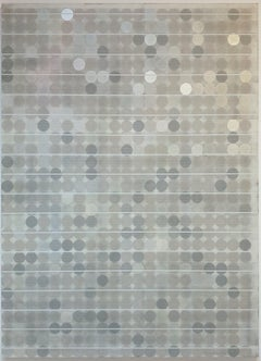 Untitled Grey - contemporary modern abstract geometric painting on canvas