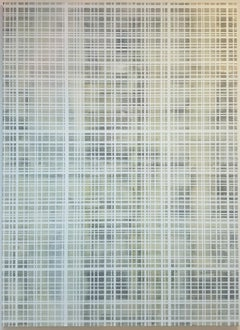 Untitled Hiding Agnes Martin - contemporary modern abstract painting on canvas