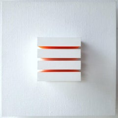 Untitled I (Ambilight) - white contemporary modern wall sculpture painting