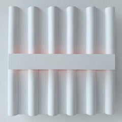 Untitled II (Ambilight) - white contemporary modern wall sculpture painting
