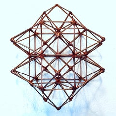 WFS-124-C - copper colour contemporary modern geometric wall sculpture painting