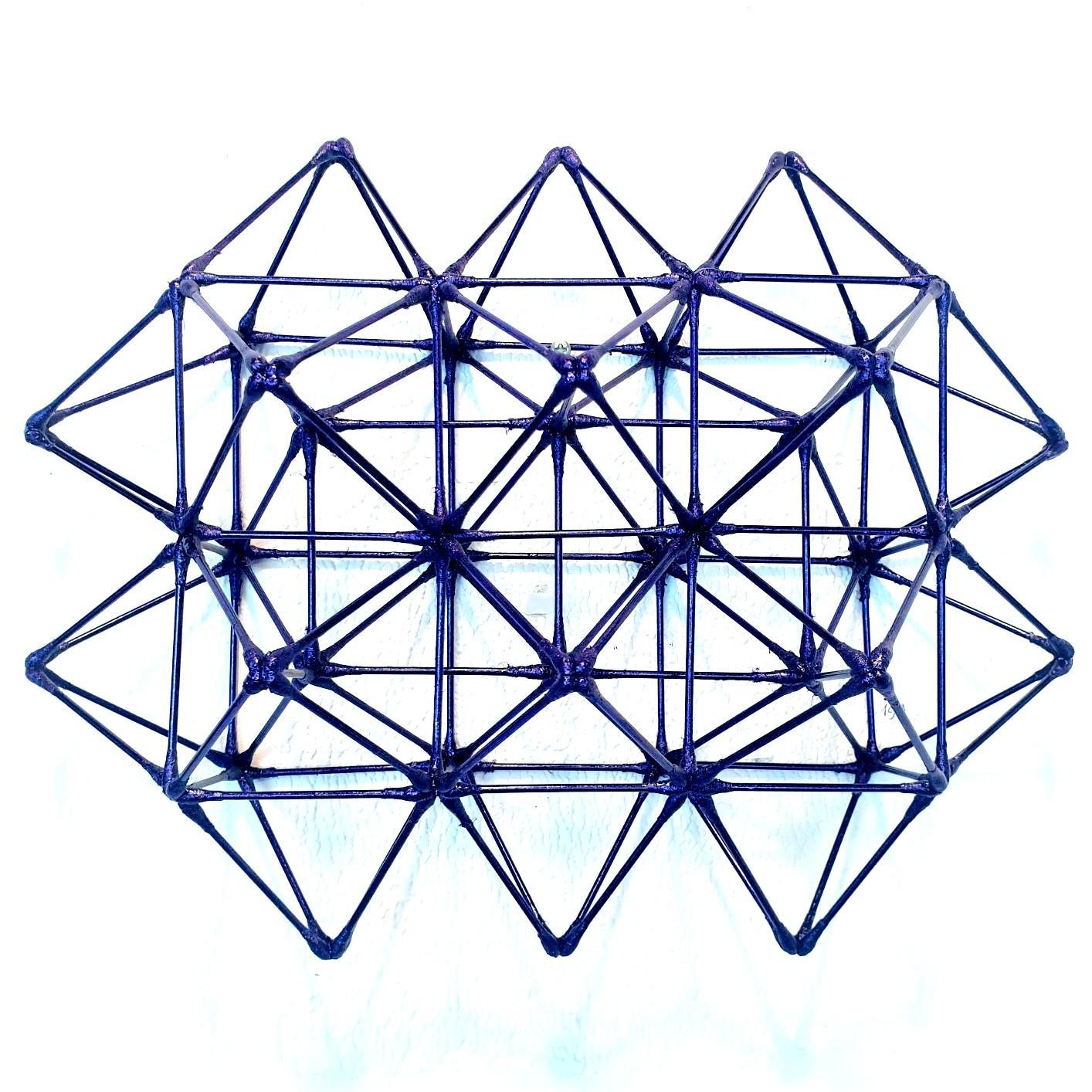 WFS-145-P - purple contemporary modern geometric wall sculpture painting