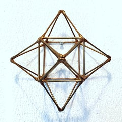 WFS-41-G - gold colour contemporary modern geometric wall sculpture painting