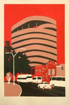 Car Park – Manaus, Eliza Southwood, Limited Edition Cityscape Silkscreen Print
