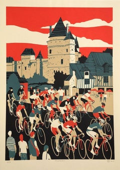 Eliza Southwood, Chateau, Limited Edition Screen Print, Affordable Art