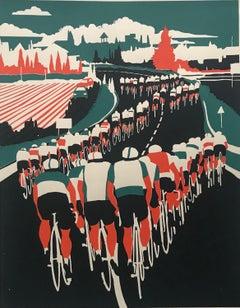 Eliza Southwood, Echelon, Limited Edition Screen Print, Cycling Art