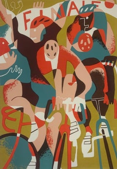 Eliza Southwood, Finale, Limited Edition Print, Contemporary Cycling Art