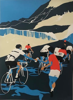 Eliza Southwood, Helping Hand, Limited Edition Screen Print, Cycling Art