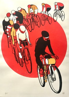 Eliza Southwood,  Keirin, Limited Edition Screen Print, Cycling Art
