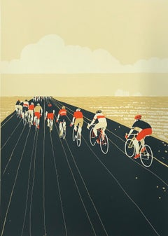 Eliza Southwood, Lines, Limited Edition Screen Print, Bicycle Art, Art Online