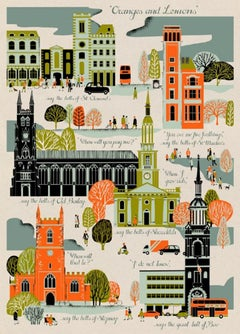 Eliza Southwood, Oranges and Lemons, Limited edtion architectural print