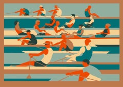 Eliza Southwood, Rowers, Limited Edition Screen Print, Affordable Art