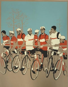 Eliza Southwood, The Start of the Race, Limited Edition Screen Print, Cycling Ar
