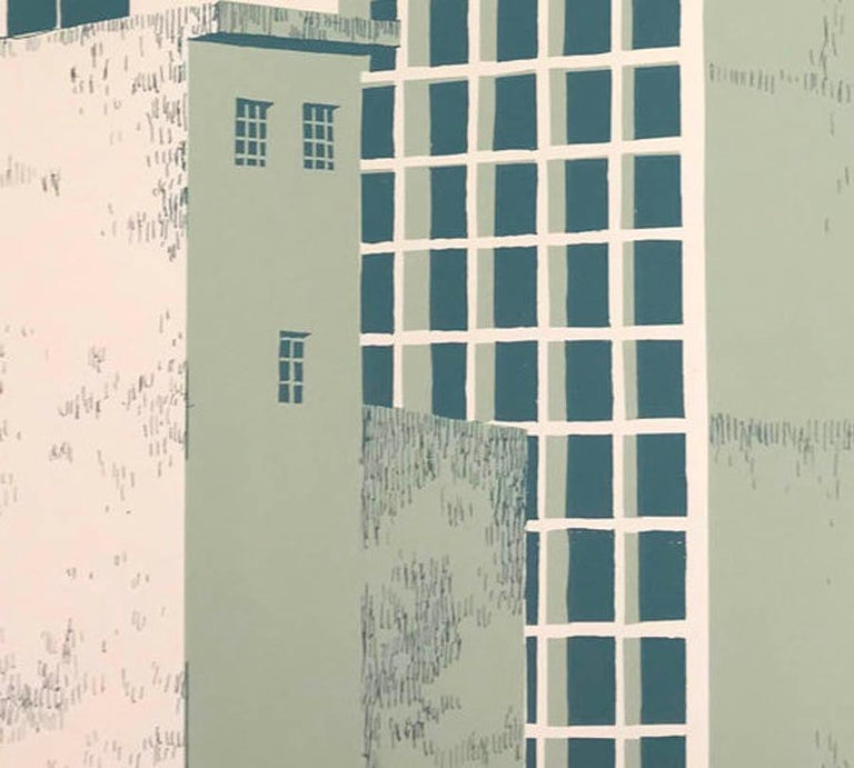 Tower Block – Manaus, Eliza Southwood, Limited Edition Silkscreen Print For Sale 1