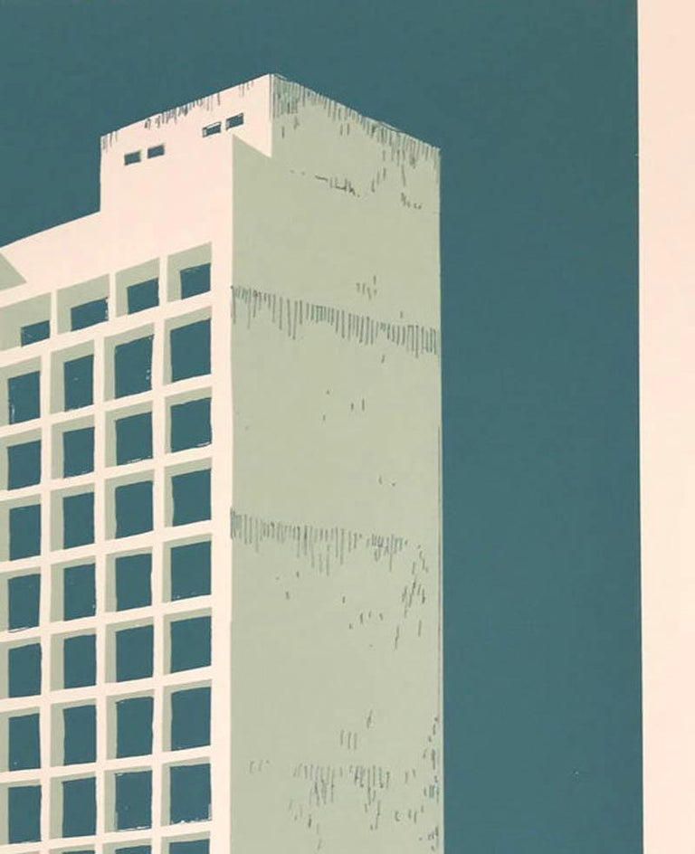 Tower Block – Manaus, Eliza Southwood, Limited Edition Silkscreen Print For Sale 2
