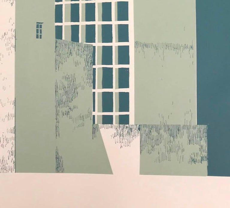 Tower Block – Manaus, Eliza Southwood, Limited Edition Silkscreen Print For Sale 4