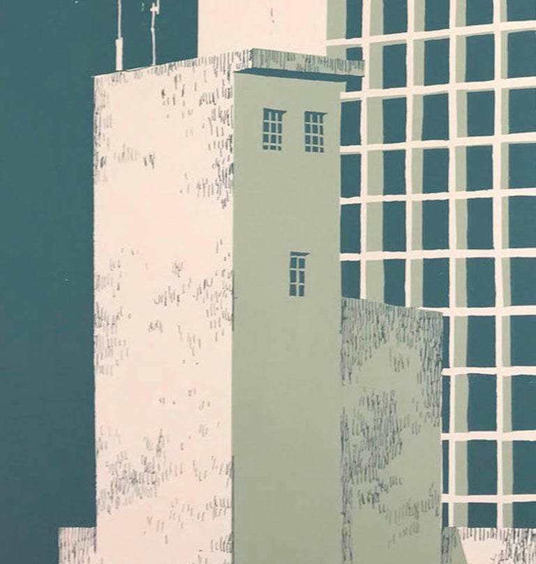 Tower Block – Manaus, Eliza Southwood, Limited Edition Silkscreen Print For Sale 5