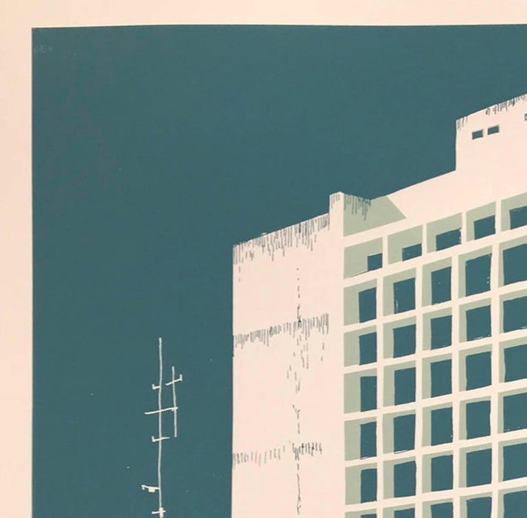 Tower Block – Manaus, Eliza Southwood, Limited Edition Silkscreen Print For Sale 7