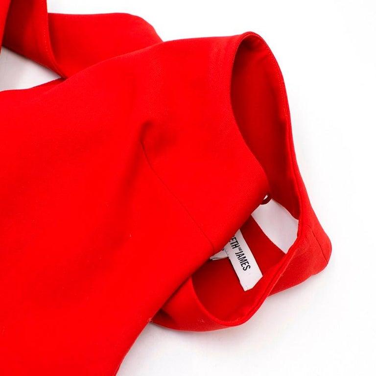 Women's Elizabeth and James Red Asymmetric Sheath Midi Dress US 4 For Sale