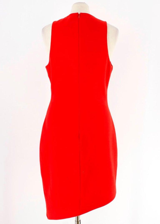 Elizabeth and James Red Asymmetric Sheath Midi Dress US 4 For Sale 4